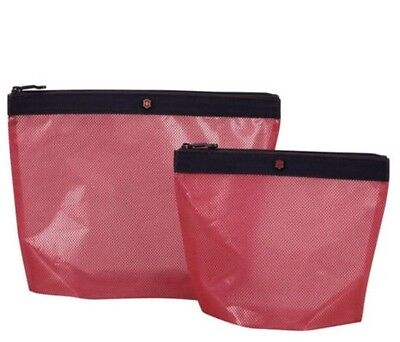 NEW Victorinox Swiss Army Lifestyle Accessories Spill-Resistant Pouch Set - Red