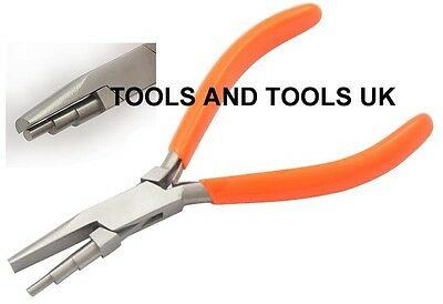 3 Step Wire Looping Wrapping Bending Flat Nose Pliers 5-3/4'' Jewellery Beading
