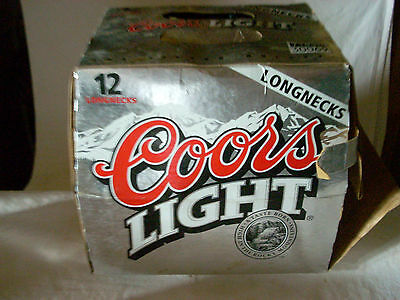 Coors Light 2001 Limited Edition Football Bottles w/Box-12