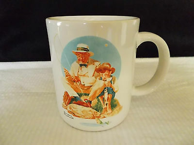 Norman Rockwell cup mug Catching The Big One