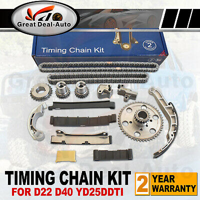 Timing Chain Kit for Nissan Navara D22 D40 2.5L TD YD25DDTI 4CYL DOHC 2006-2010