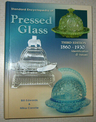 VINTAGE PRESSED GLASS 1860-1930 PRICE GUIDE COLLECTOR'S BOOK HEISEY FENTON ++