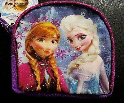FROZEN ANNA & ELSA ZIPPED GLITTER SMALL BAG / PURSE - new with tags