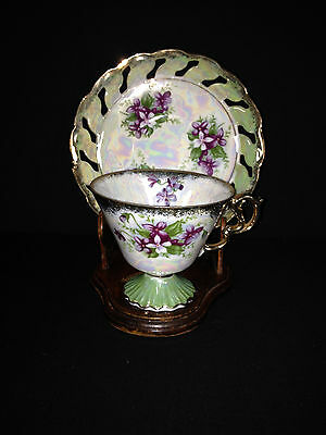 Original NAPCO China - IDD436  Hand Painted Tea Cup & Saucer
