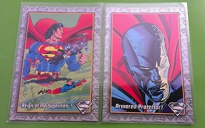 REIGN OF SUPERMEN 1 & ARMORED PROTECTOR 13 THE RETURN OF 1993 SKYBOX Set