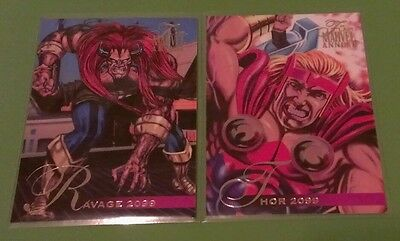 RAVAGE 2099 #95 & THOR 2099 #93 1995 95 Flair Marvel Annual Trading Card Set