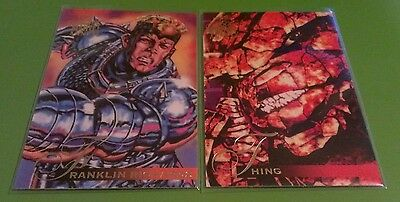 FRANKLIN RICHARDS #80 & THING #81 1995 95 Flair Marvel Annual Trading Card Set