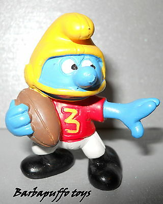 PUFFI - SMURFS  da BARBAPUFFO --20132 Puffo AMERICAN FOOTBALL 3 colorato
