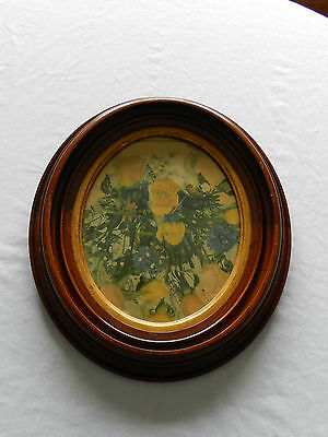 "Antique Oval Walnut Picture Frame 8"" X 10"" PICTURE"