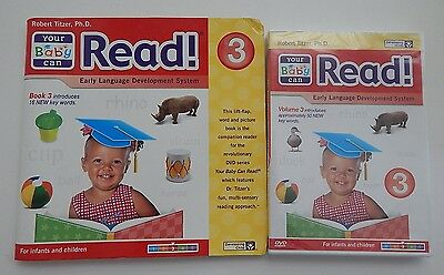 Your Baby Can Read Early Language Development Volume 3 Sealed DVD + Book