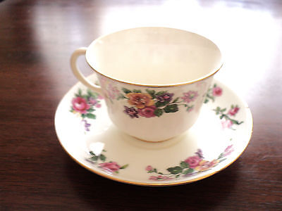 AYNSLEY WILD ROSES CUP AND SAUCER SET TEA OR COFFEE