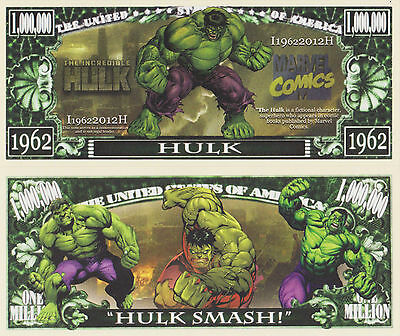 RARE: Incredible Hulk $1,000,000 Novelty Note, Comics Buy 5 Get one FREE
