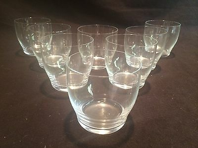 SET OF 8 SMALL TUMBLERS BY ORREFORS CRYSTAL