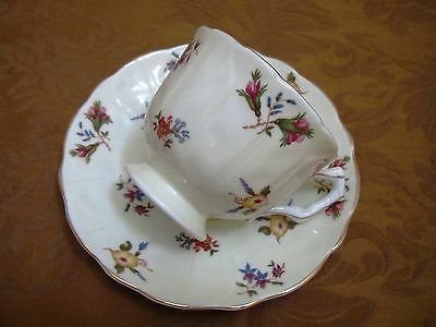 Vintage Aynsley Tea Cup and Saucer Set Footed Teacup 1950's Bone China England