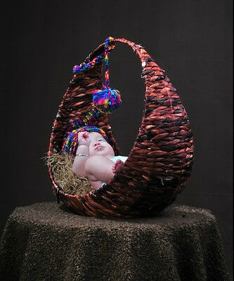 New Creative Photography Prop Handmade Woven Basket for Newborn Baby D-4