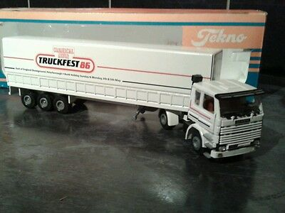 very Rare tekno scania truckfest 86 truck and trailer mint condition boxed
