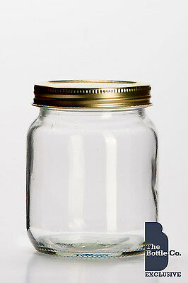 X 72 1lb HONEY JARS SCREW NECK TRADITIONAL C/W LIDS JAM  JARS AVAILABLE