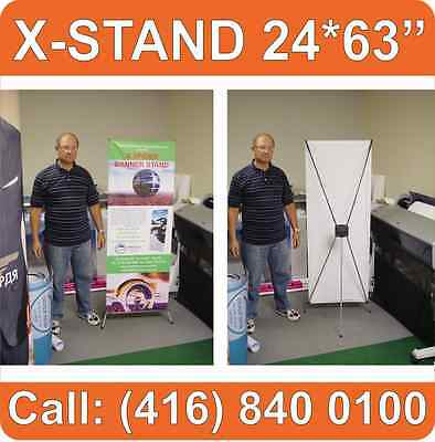 """LOT OF 10 X-Stand Trade Show Tripod Banner Stands System Graphic Display 24*63"""""""