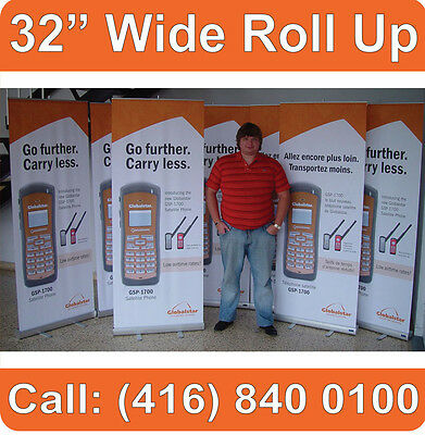 """32"""" WIDE Trade Show Retractable Pop Up Exhibit Banner Stand Booth Display (NEW)"""