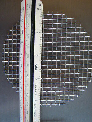 """10 Pcs.ROUND STAINLESS STEEL WIRE MESH 4.333"""" DIA"""