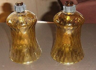 2 Home Interiors Homco Amber Stretch Votive Candle Sconce CupsGrommets Excellent