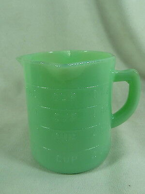 One Cup Measuring Cup With 3 Spouts Jadeite Glass Jadite NEW Measuring Pitcher