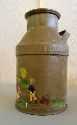 Bowman Dairy 10 40 Cream Can - Painted Folk Art Excellent Condition     TNT