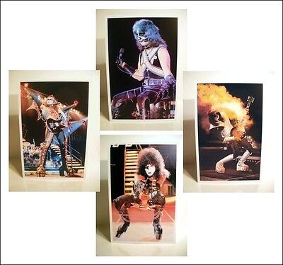 KISS Set OF 4  Ace, Paul, Peter, Gene ALIVE II Era Poster Stand-Up Displays