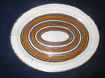 "WEDGWOOD MIDWINTER Stonehenge Earth Oval 12"" x 9.5"" Serving Platter Plate ~ EXC"