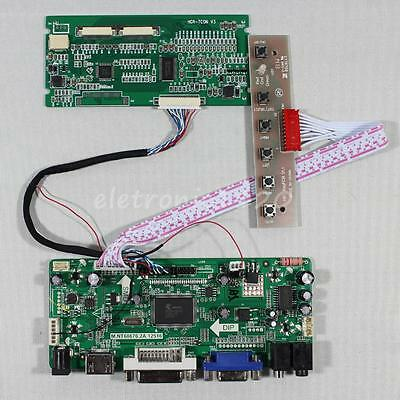 HDMI DVI VGA Audio LCD driver board work for 8inch AT080TN42 800x600 lcd panel