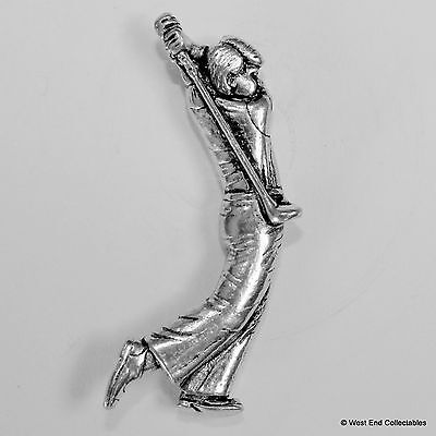 Golfer Pewter Pin Brooch - British Hand Crafted - Golf Ball Tee Club Player