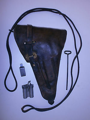 ORIGINAL SWEDISH M40 LAHTI PISTOL HOLSTER WITH ACCESSORIES used.