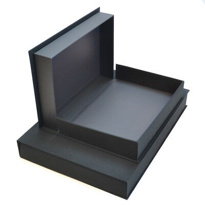 Display Box A3 50mm deep, black, hinged, acid free, for presentation, archival
