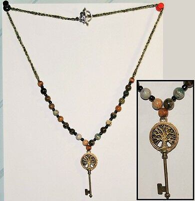 Hecate's Key - Tree of Life Necklace - Pagan Wicca