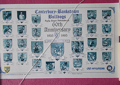 Rugby League Print - Canterbury Bulldogs 60Th Anniversary