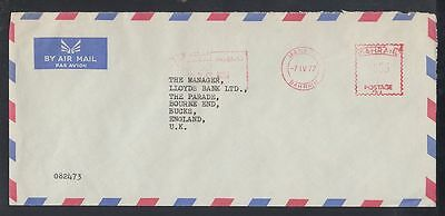 1977 Bahrain Cover to UK with meter mark [cm321]