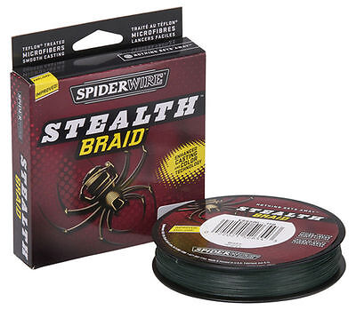 CLEARANCE Spiderwire Stealth Fishing Braid, Green, 6/8/10/20lb 50% RRP