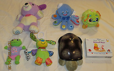 LOT OF 7, BABY/ TODDLERS TOYS ALL TESTED AND WORK, CLOUD. B TURTLE, LEAP FROG
