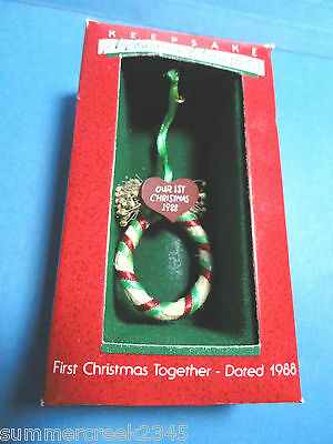 "Hallmark ""First Christmas Together"" Miniature Ornament 1988"
