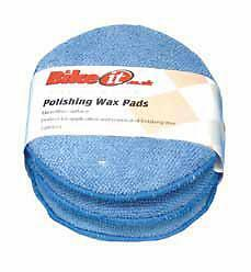 Bikeit Motorcycle Motorbike Scooter Wax Applicator Polishing Soft Pads Shine 3Pc