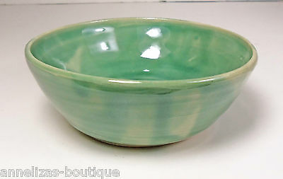 New Handcrafted Wheel-thrown Green Celadon Small Bowl SIGNED Free Ship