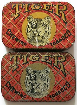 Tiger Chewing Tobacco Two-Sided Antique Tin, P. Lorillard & Co