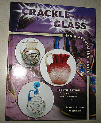 CRACKLE GLASS PRICE GUIDE COLLECTOR'S BOOK HARDBACK COLOR PICS NEW