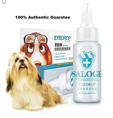 UK SALOGE Dog Cat Eye Drops Bactericidal Anti-Inflammatory Antimicrobial Itching
