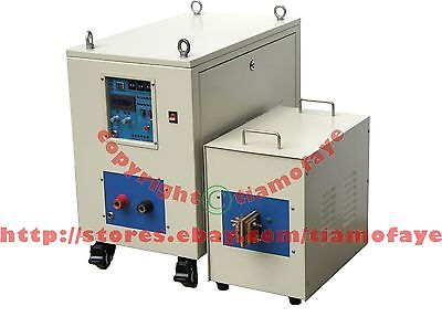 40KW 5-20KHz Dual Station Mid- Frequency Induction Heater Melter Furnace