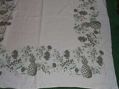 VINTAGE WILLIAM EWART IRISH LINEN TABLECLOTH VEGETABLE W FRUIT DESIGN