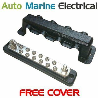Auto /& Marine 4 Way Power Distribution Bus Bar /& ABS Cover 250A Rated
