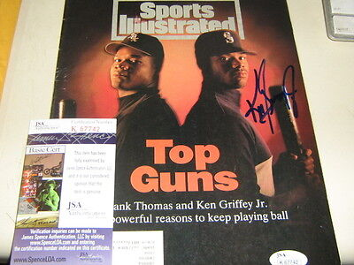Jsa Auth Autographed Ken Griffey Jr And Frank Thomas  Sports Illustrated