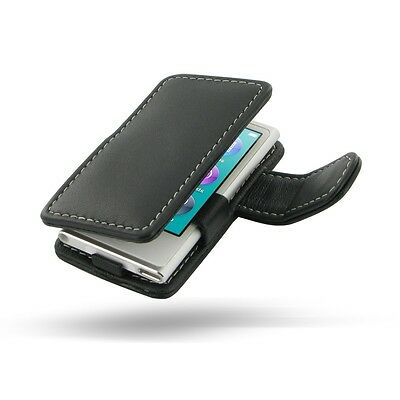 Pdair Black Leather Book Case Cover for Apple iPod Nano 7G 7th Gen & 8G 8th Gen
