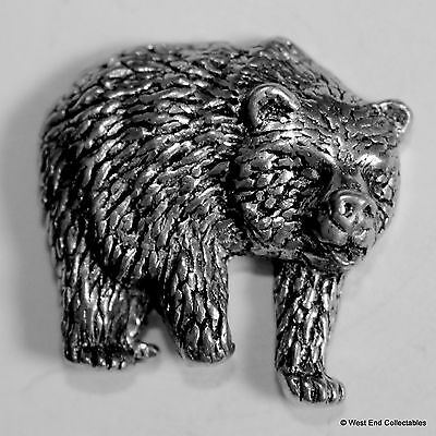 Grizzly Brown Black Bear - British Artisan Signed Badge - Teddy American